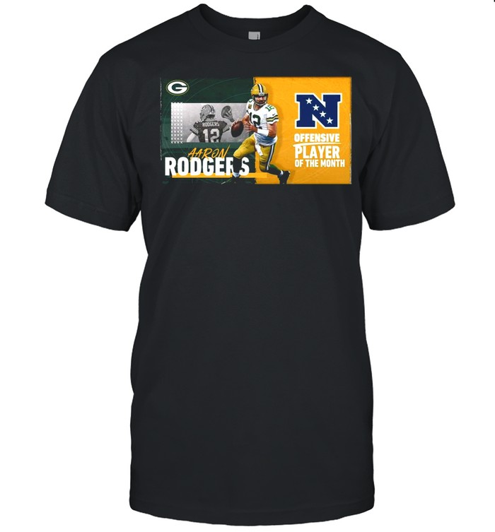 Green Bay Packers Aaron Rodgers Offensive Player Of The Month 2021 shirt Classic Men's T-shirt