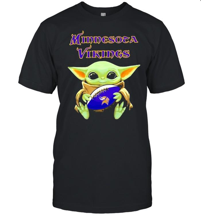 Minnesota Vikings Baby Yoda Football shirt Classic Men's T-shirt
