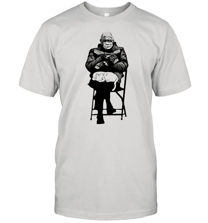 Bernie Mittens Gloves And Cat In Lap Sanders shirt Classic Men's T-shirt