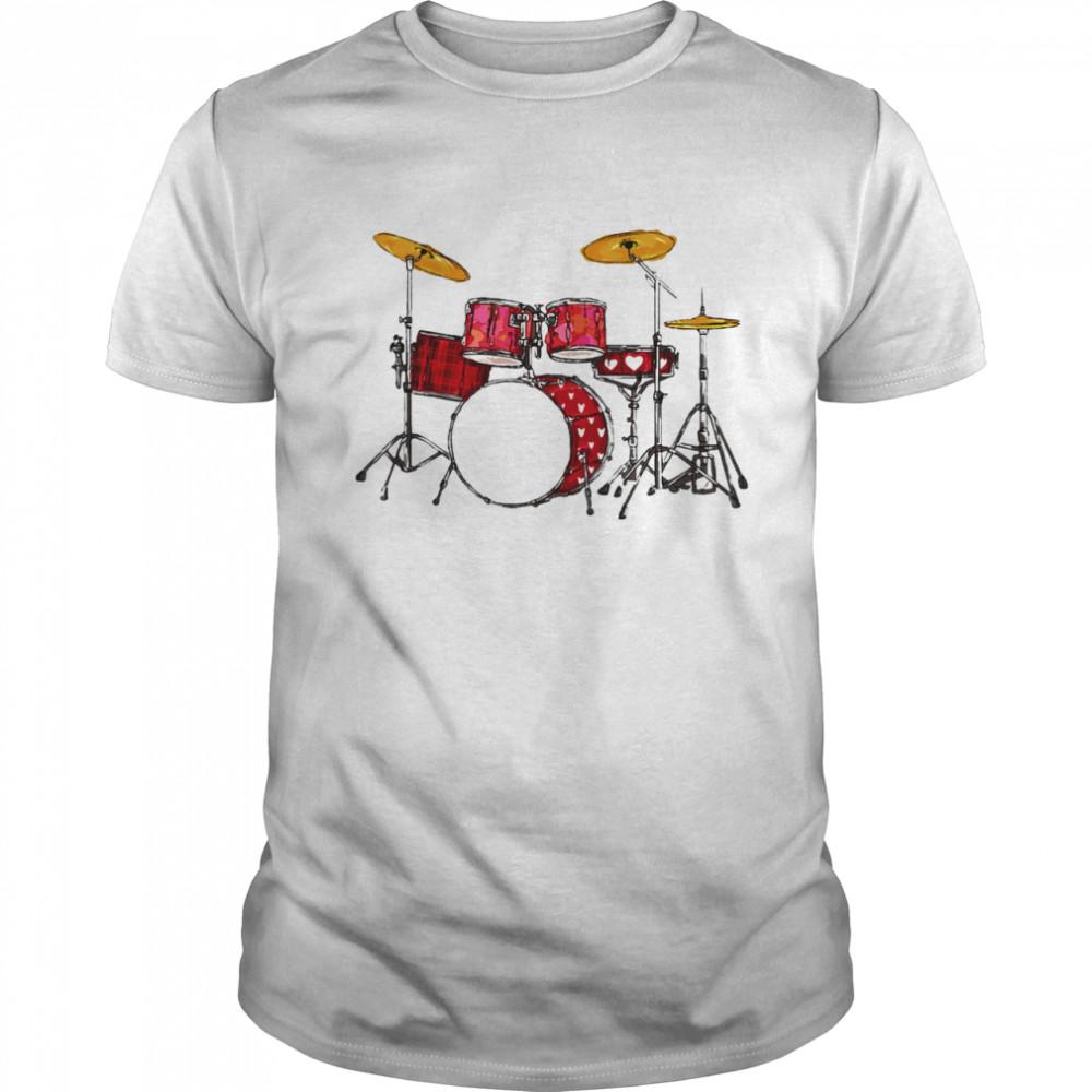 Drum Band Music Valentine's Day shirt Classic Men's T-shirt