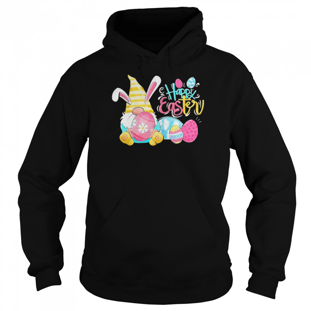 Lovely bunny gnome rabbit happy eggs shirt Unisex Hoodie