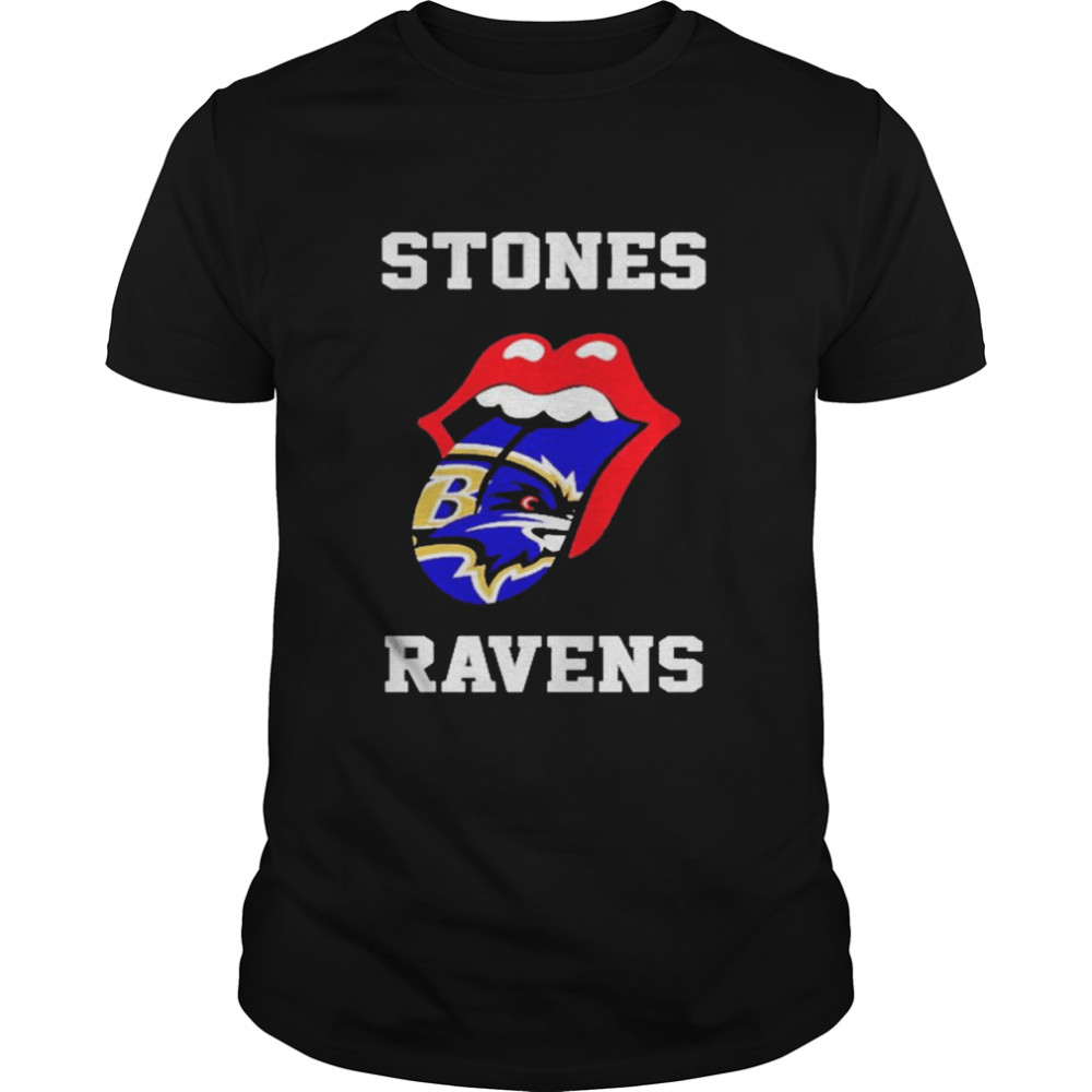 The Rolling Stones Baltimore Ravens lips shirt Classic Men's T-shirt