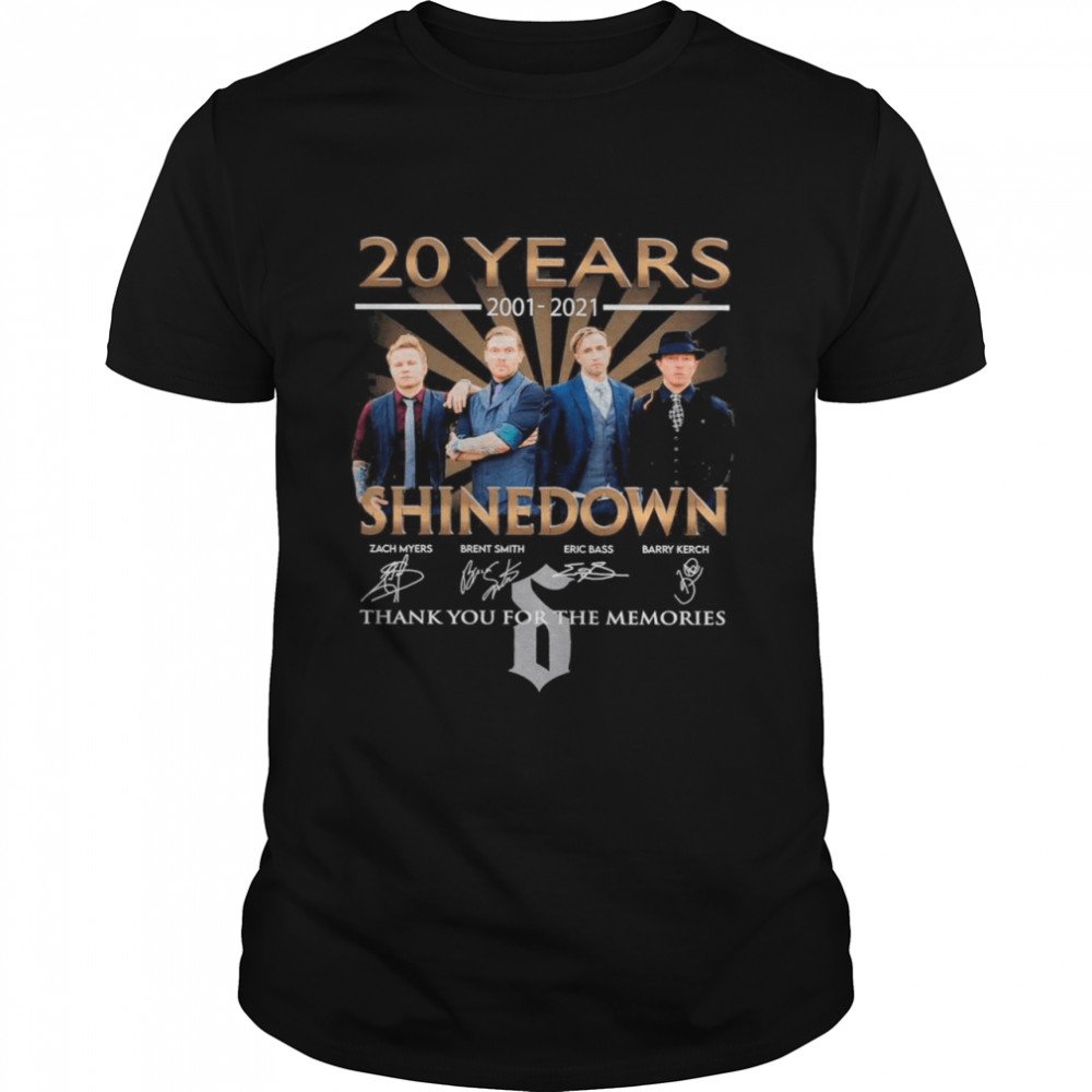 20 Years 2001 2021 Of The Shinedown Band Signatures Thank You For The Memories shirt Classic Men's T-shirt