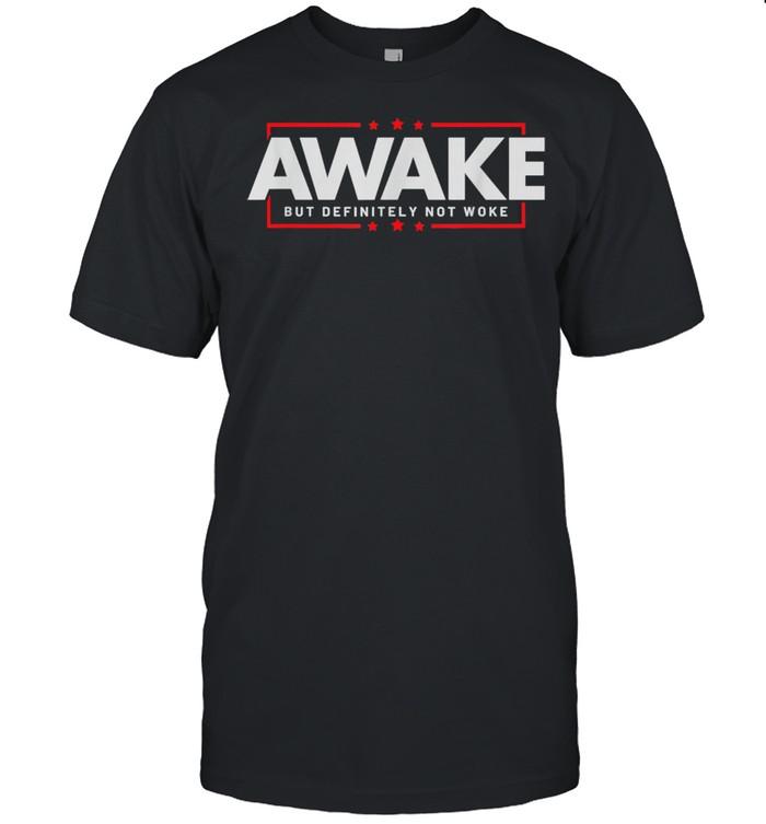Free Speech Awake But Definitely Not Woke Political Censorship  Classic Men's T-shirt