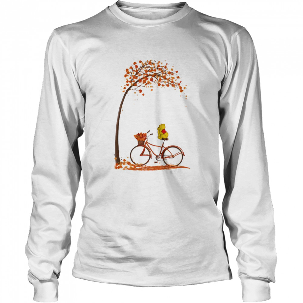 Autumn Pooh Bicycle  Long Sleeved T-shirt