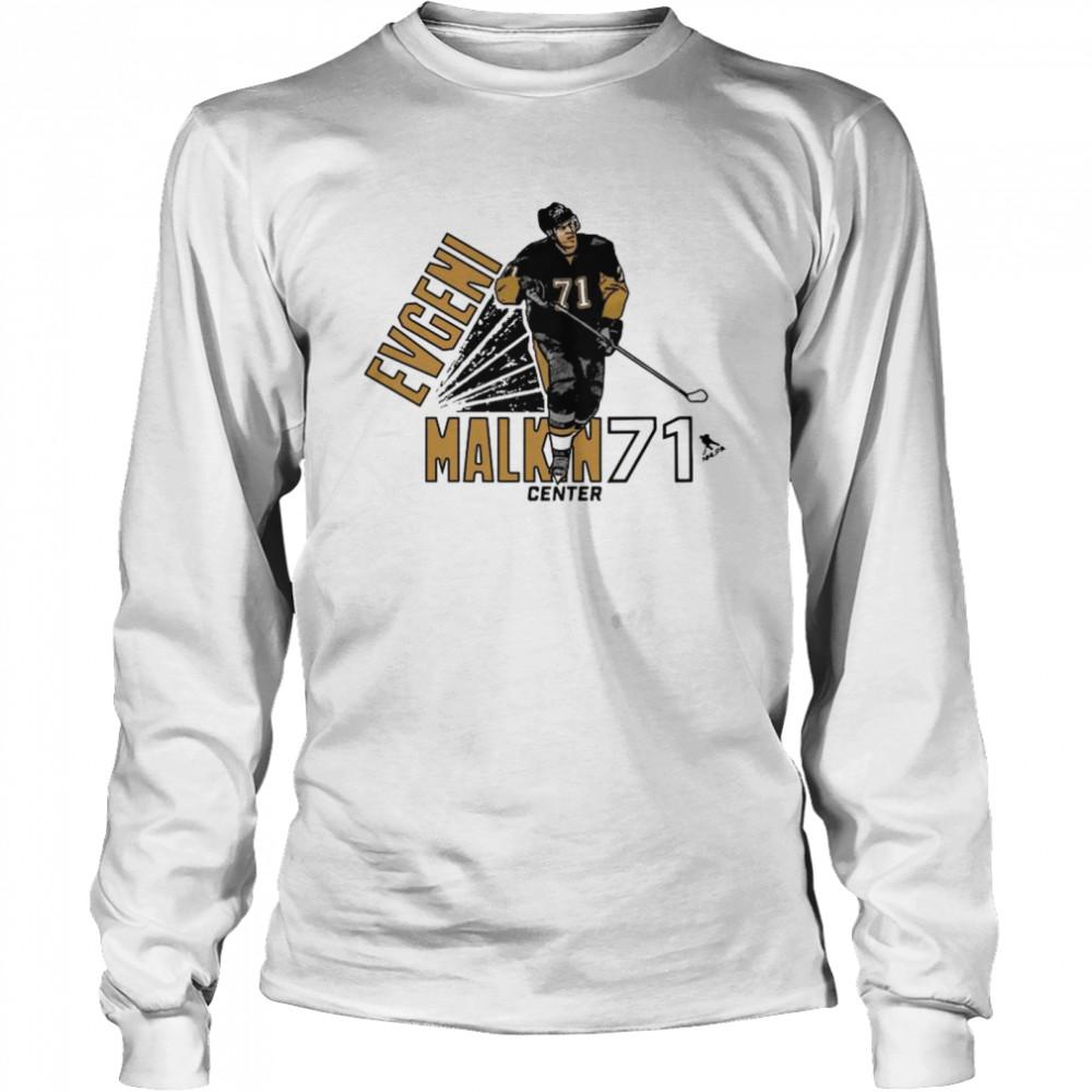 Evgeni Malkin 71 Center Pittsburgh shirt Long Sleeved T-shirt