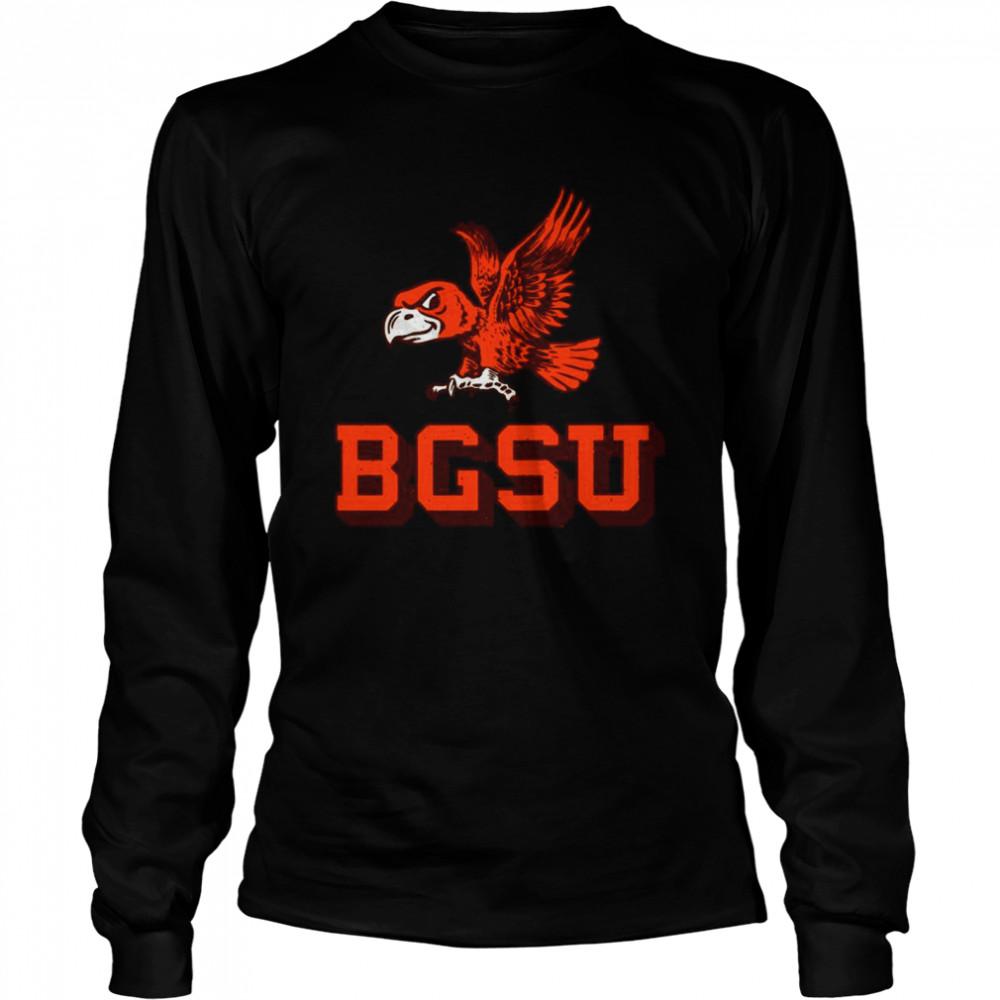 Flying Falcon Logo Bowling Green State University shirt Long Sleeved T-shirt