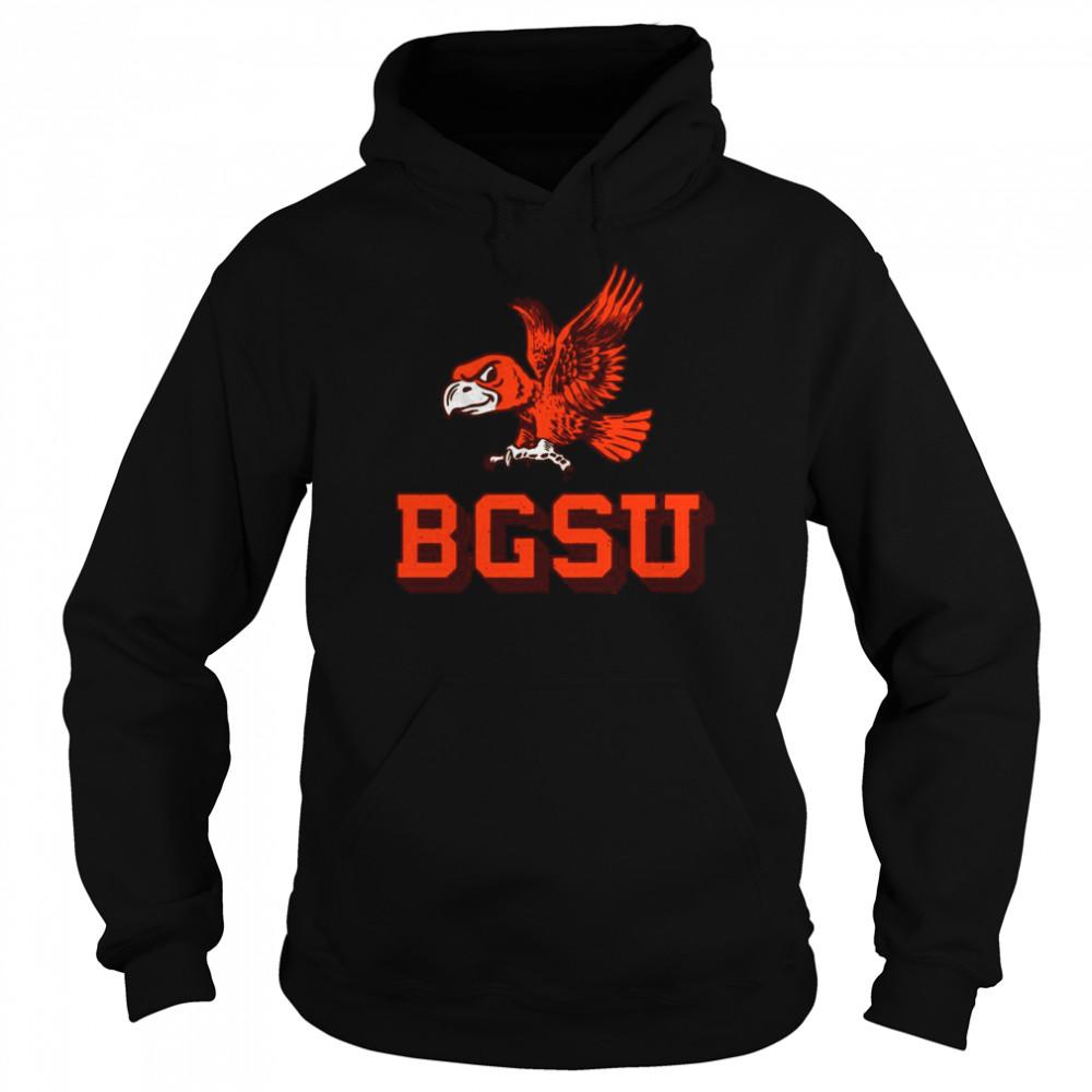 Flying Falcon Logo Bowling Green State University shirt Unisex Hoodie