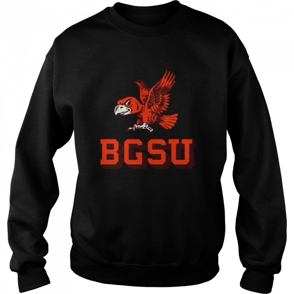 Flying Falcon Logo Bowling Green State University shirt Unisex Sweatshirt