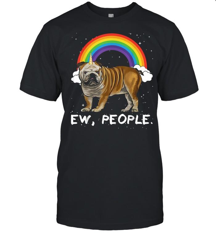Rainbow Bulldog Ew People Unicorn Dog  Classic Men's T-shirt