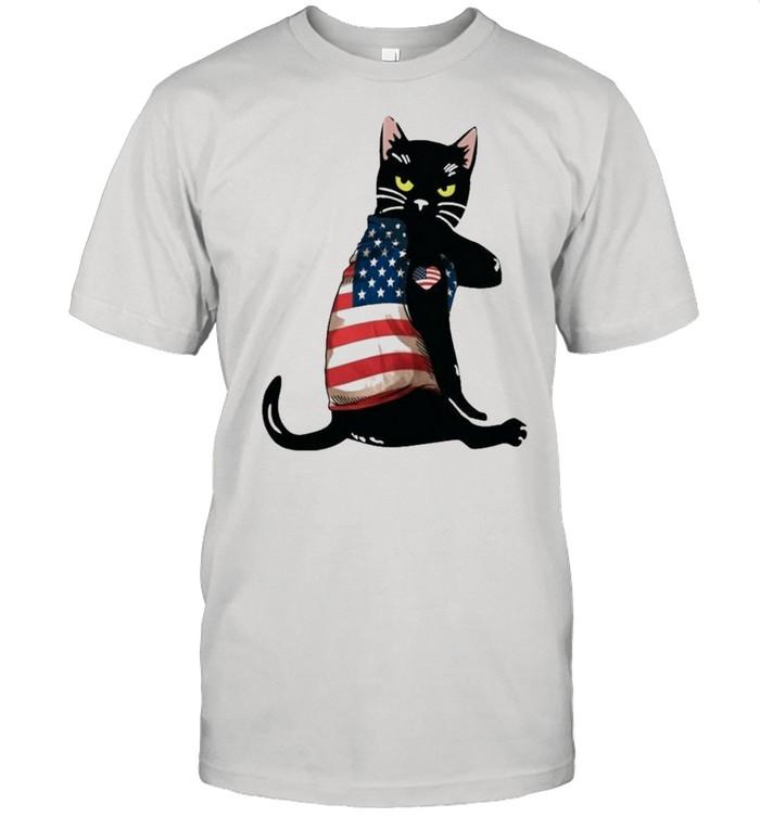 Strong cat patriotic shirt Classic Men's T-shirt