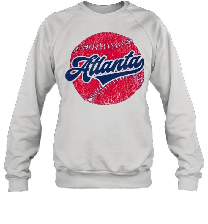 Atlanta Baseball ATL Distressed Game Day Brave  Unisex Sweatshirt