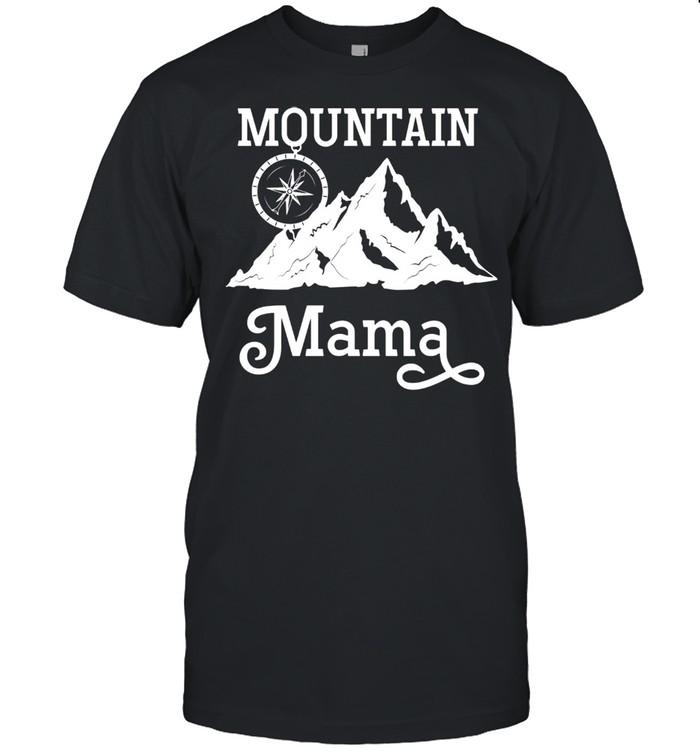 Mountain Mama Compass Hiking Camping Outdoor Mother's Day shirt Classic Men's T-shirt