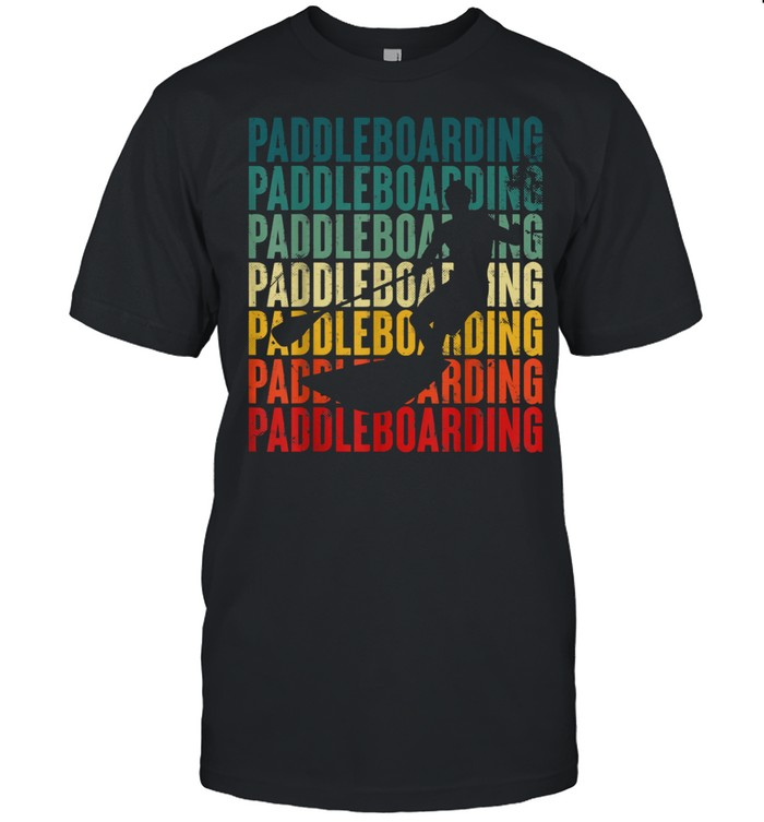 Retro Paddleboarding Vintage Sup Paddle boarding shirt Classic Men's T-shirt