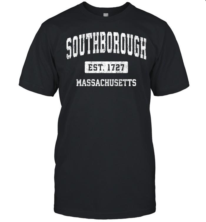 Southborough Massachusetts MA Vintage Sports Established Des shirt Classic Men's T-shirt