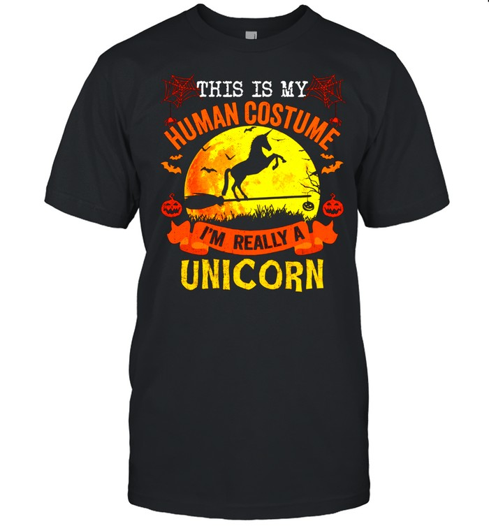 This Is My Human Costume I'm Really A Unicorn Halloween shirt Classic Men's T-shirt