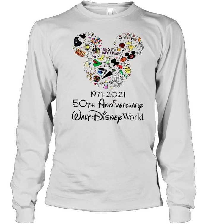 1971 2021 50th Anniversary MIckey mouse shirt Long Sleeved T-shirt