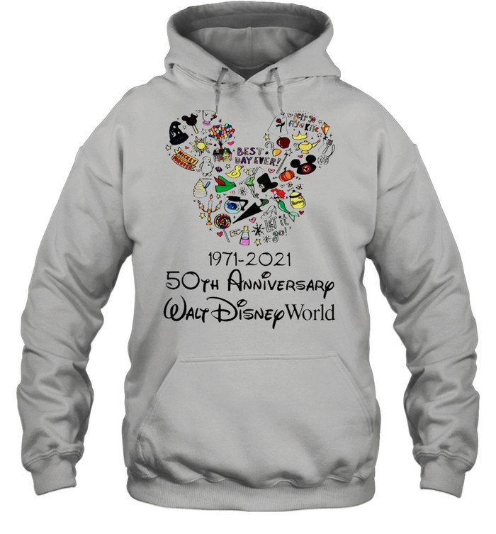 1971 2021 50th Anniversary MIckey mouse shirt Unisex Hoodie