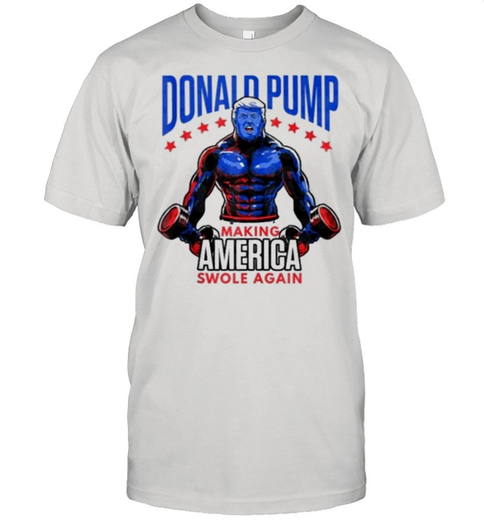 Donald trump making america swole again american flag shirt Classic Men's T-shirt