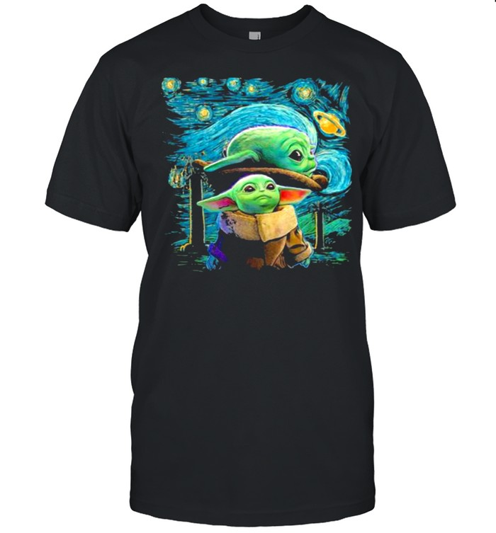 Night Galaxy Yoda Star Wars  Classic Men's T-shirt
