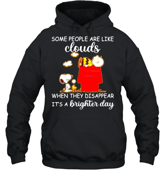 Some People Are Like Clouds When They Disappear It's A Brighter Day Snoopy And Charlie  Unisex Hoodie