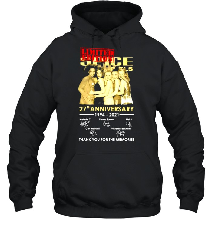 Spice Girls 27th Anniversary 1994 2021 Thank You For The Memories Signature  Unisex Hoodie