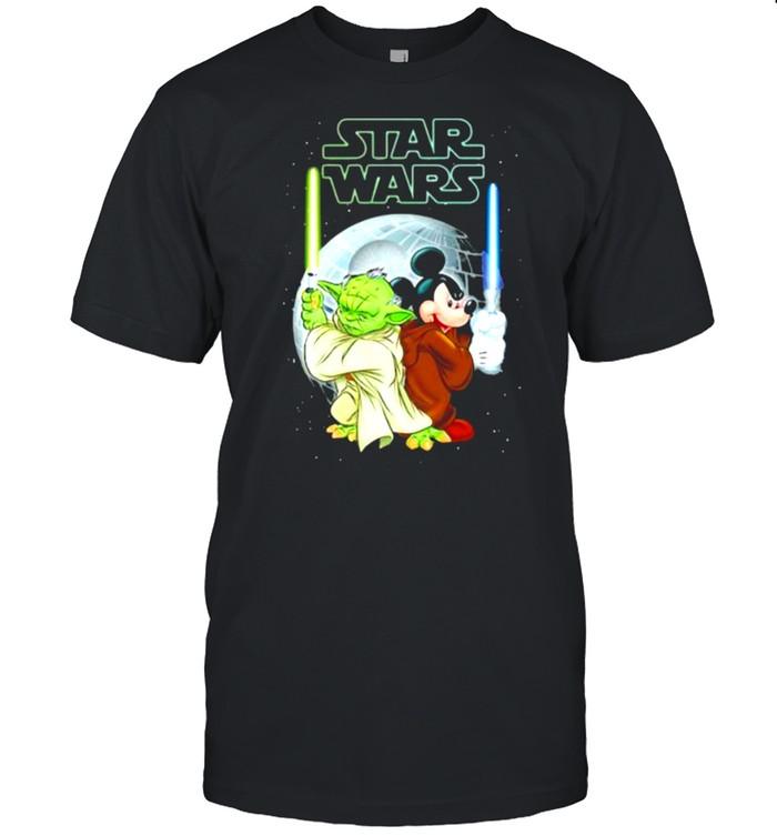 Star Wars Yoda And Mickey  Classic Men's T-shirt
