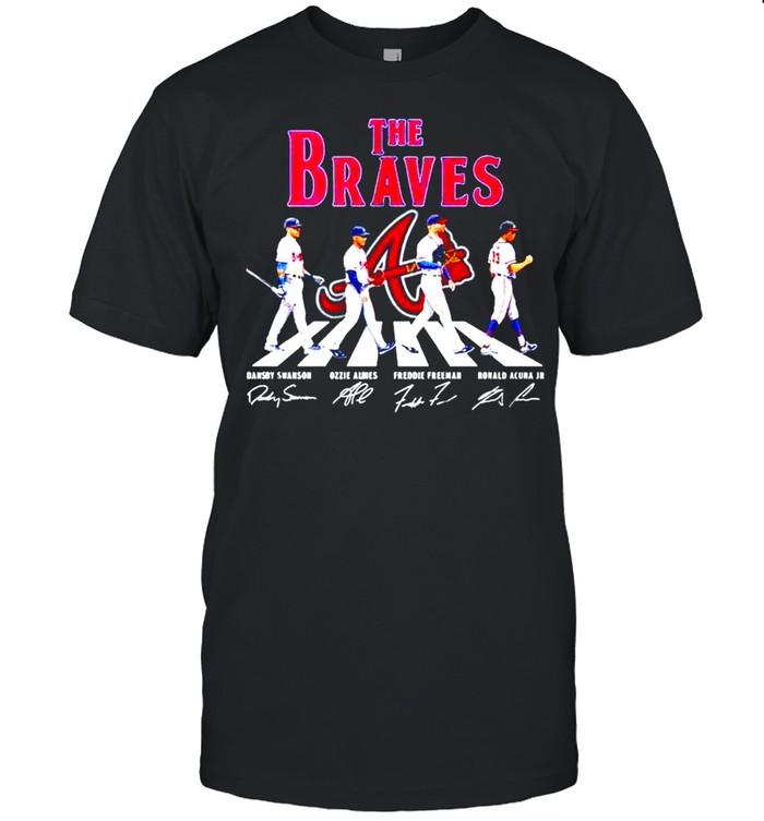 The Atlanta Braves abbey road signatures shirt Classic Men's T-shirt