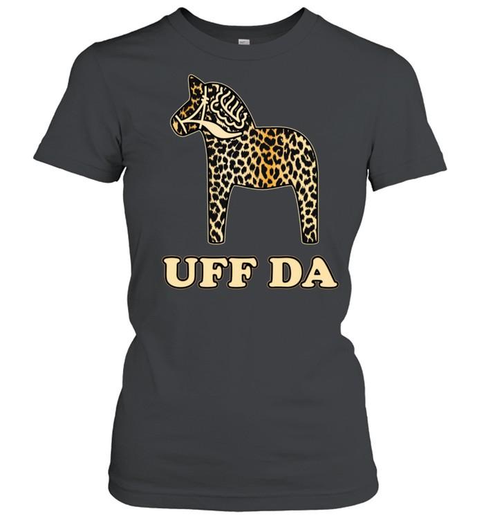 Uff Da Leopard Cheetah Dala Horse Dalecarlian Horse Nordic shirt Classic Women's T-shirt