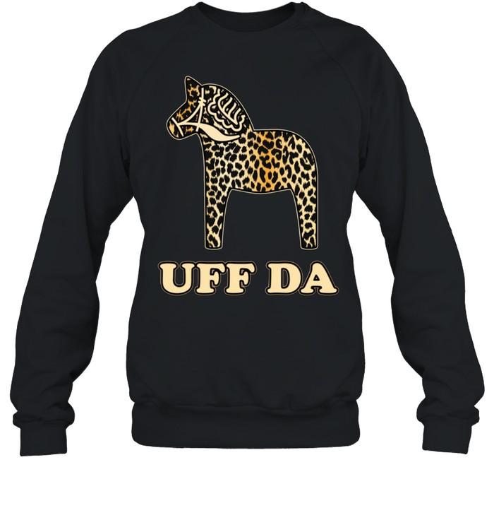Uff Da Leopard Cheetah Dala Horse Dalecarlian Horse Nordic shirt Unisex Sweatshirt