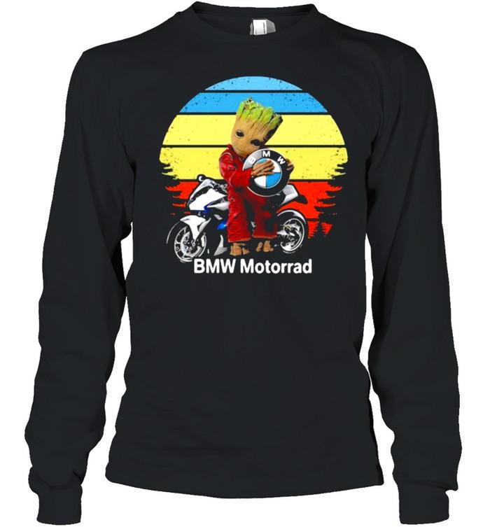 Groot hug logo BMW Motorrad vintage shirt Long Sleeved T-shirt