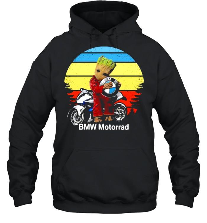 Groot hug logo BMW Motorrad vintage shirt Unisex Hoodie