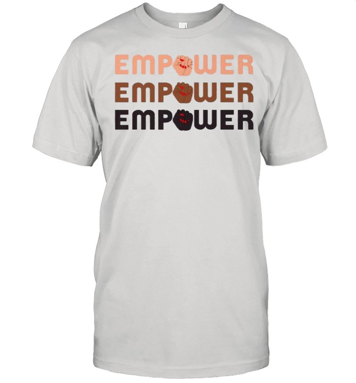 Empower Raised Fist Word Stack T- Classic Men's T-shirt