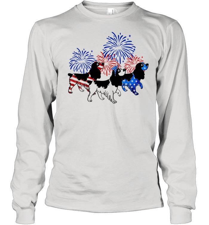 English Springer Spaniel Flag 4th Of July shirt Long Sleeved T-shirt