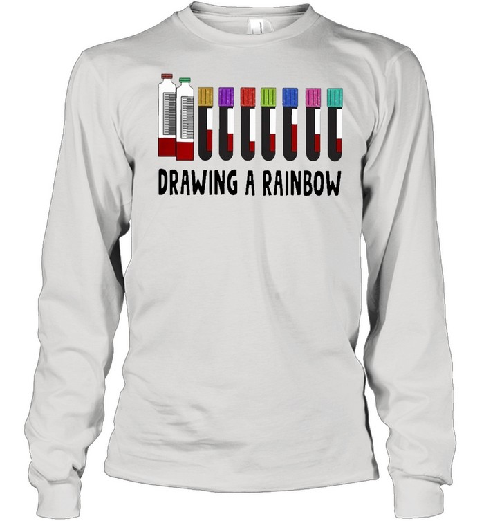 med tech drawing a rainbow shirt Long Sleeved T-shirt