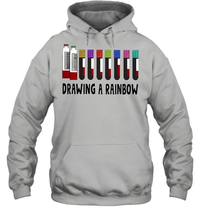 med tech drawing a rainbow shirt Unisex Hoodie