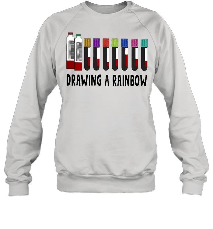 med tech drawing a rainbow shirt Unisex Sweatshirt