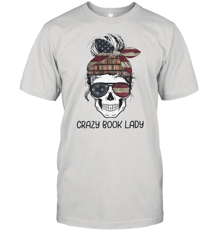 Skull girl crazy book crazy shirt Classic Men's T-shirt
