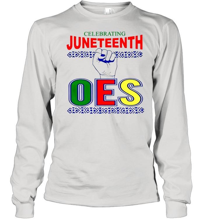 Celebrating Juneteenth one shirt Long Sleeved T-shirt