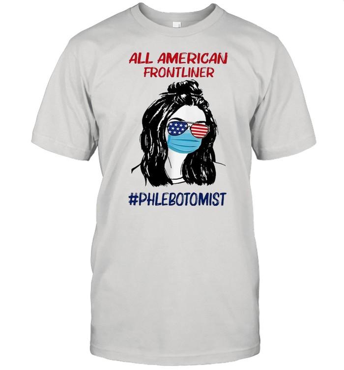 Girl all American frontliner phlebotomist American flag shirt Classic Men's T-shirt
