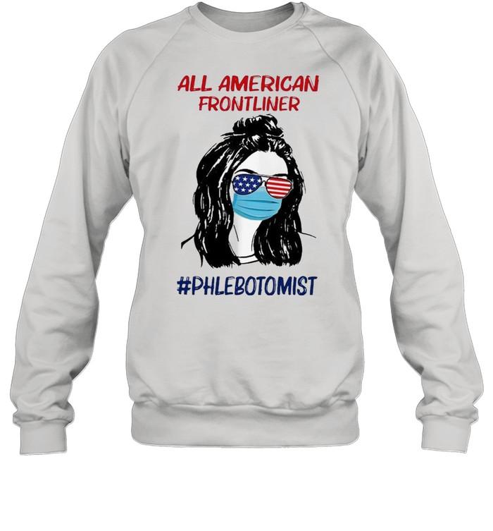 Girl all American frontliner phlebotomist American flag shirt Unisex Sweatshirt