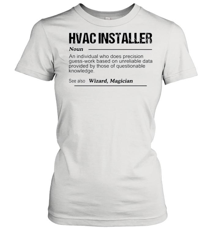 Hvac installer noun an individual who does precision guess shirt Classic Women's T-shirt