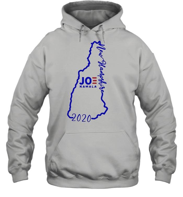 Joe Biden and Kamala Harris win new hampshire 2020 shirt Unisex Hoodie
