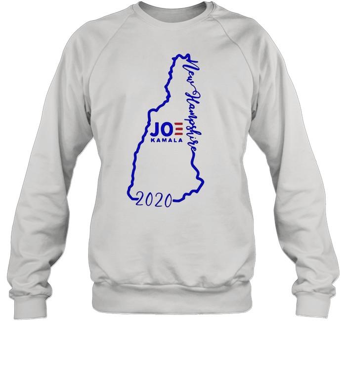 Joe Biden and Kamala Harris win new hampshire 2020 shirt Unisex Sweatshirt