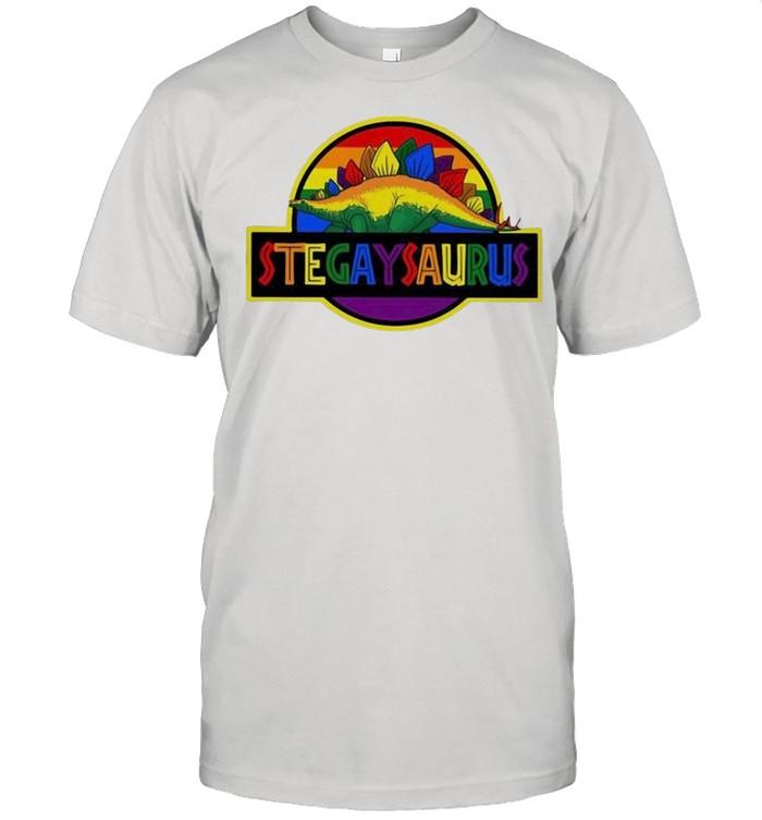 LGBT stegaysaurus shirt Classic Men's T-shirt