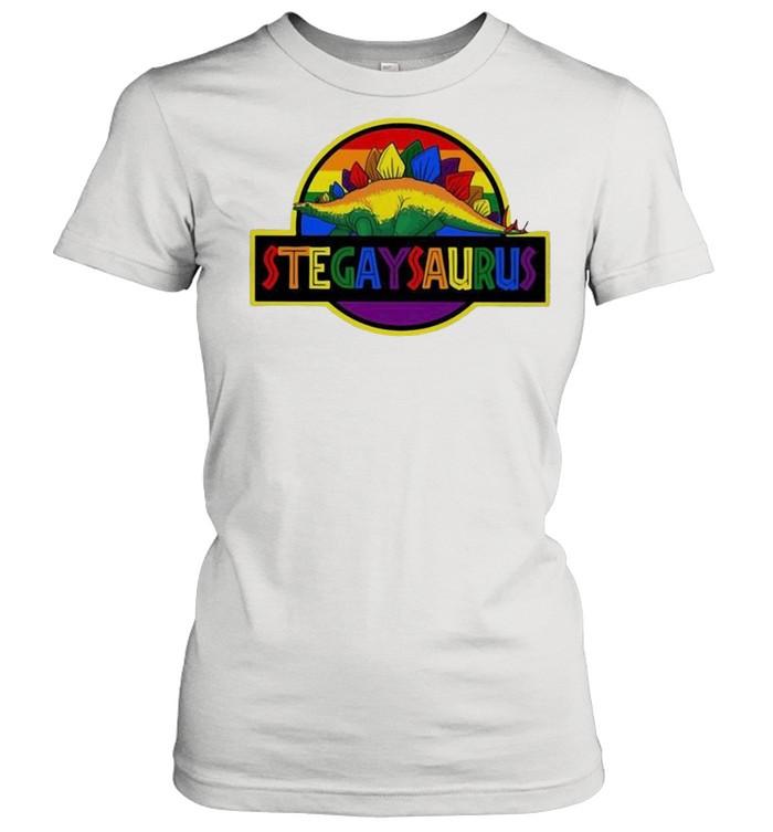 LGBT stegaysaurus shirt Classic Women's T-shirt