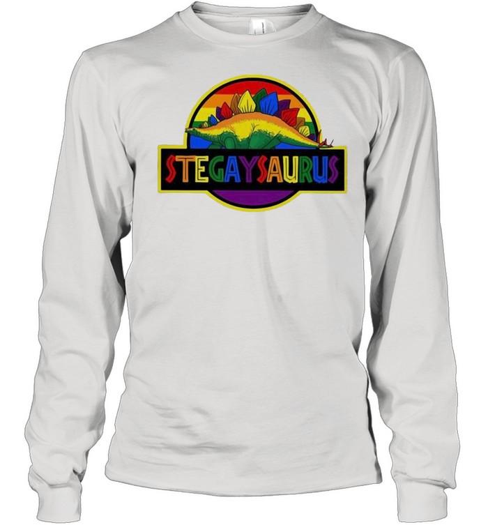 LGBT stegaysaurus shirt Long Sleeved T-shirt