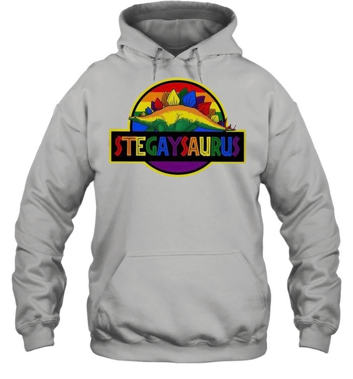 LGBT stegaysaurus shirt Unisex Hoodie
