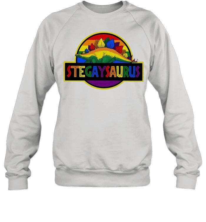 LGBT stegaysaurus shirt Unisex Sweatshirt