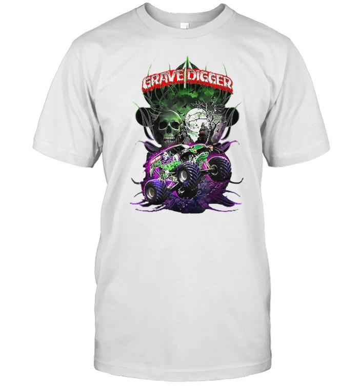 Grave Diggers Skull Truck Moon Halloween T-Shirt Masswerks Store